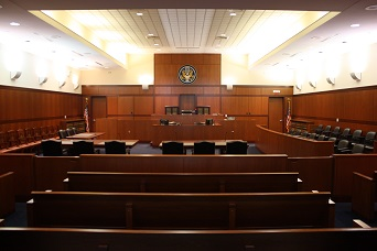 Courtroom in the Edward N. Cahn U.S. Courthouse & Federal Building